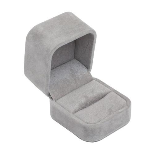 Round Corner Suede Single Ring Box