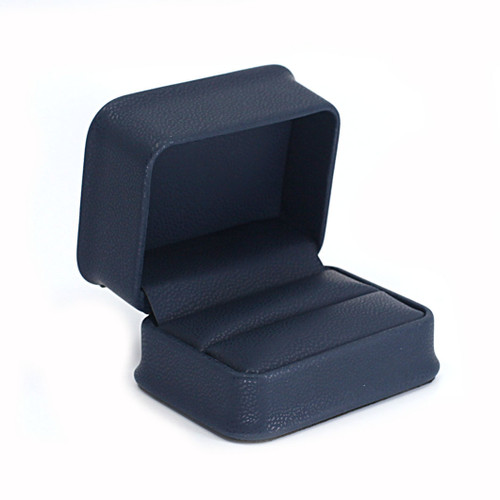 Embossed Leatherette Double Ring Box