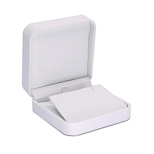 Round Corner Leatherette Earring/Pendant Box