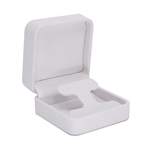 Round Corner Leatherette Drop Earring Box
