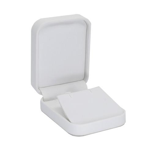 Round Corner Leatherette Pendant/Earring Box
