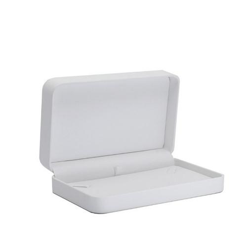 Round Corner Leatherette Small Necklace Box