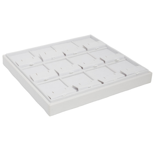 Stackable Leatherette Tray for 12 Clip Earrings