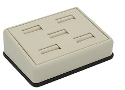 Leatherette Tray for 5 Rings w/ Removable Pad