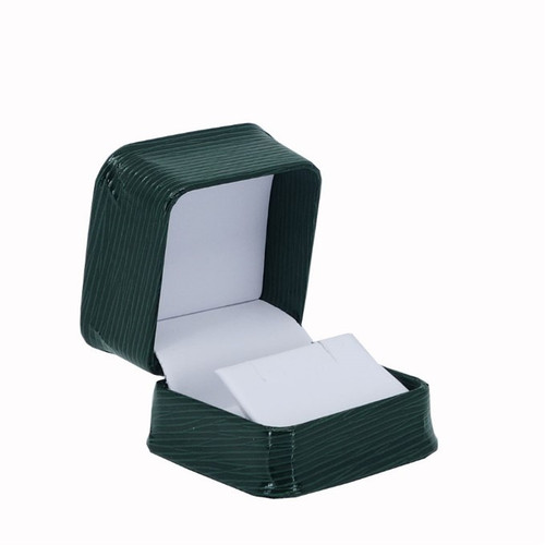 Textured Leatherette Earring Box