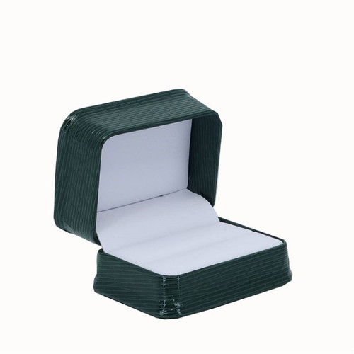 Textured Leatherette Double Ring Box