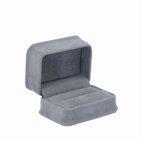 Soft Velour Double Ring Box