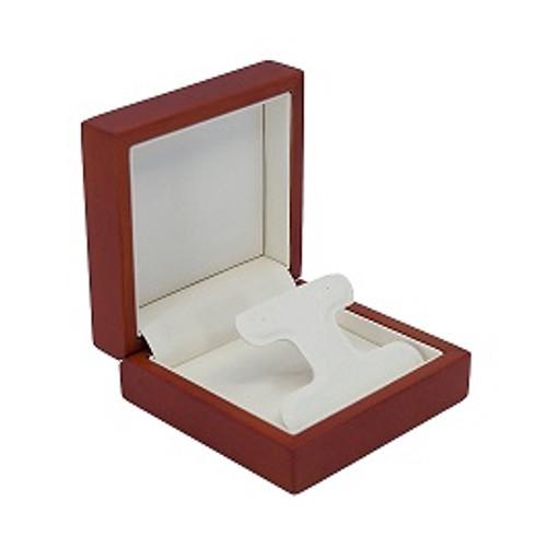 Domed Cherry Wood Drop Earring Box