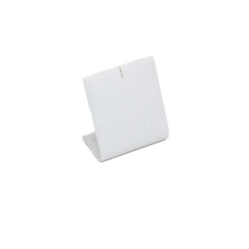 White Leatherette Charm Stand