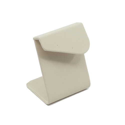 Short Leatherette Earring Stand w/ Angled Overlay