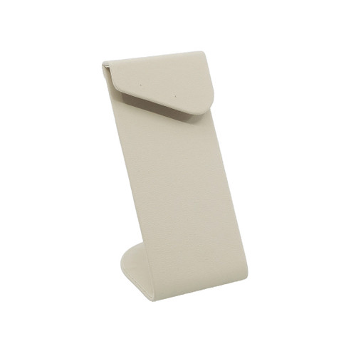 Tall Leatherette Earring Stand w/ Angled Overlay