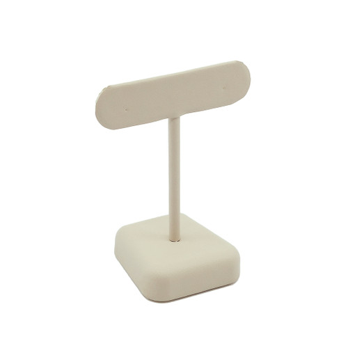 Short T-shaped Leatherette Earring Stand