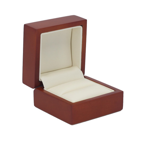Domed Cherry Wood Single Ring Box
