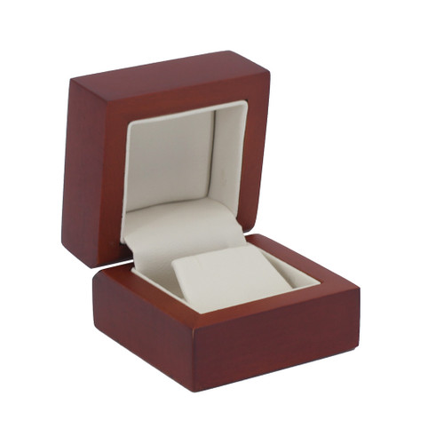 Natural Wood Small Earring Box