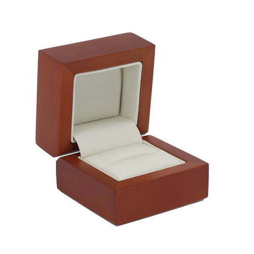 Natural Wood Single Ring Box