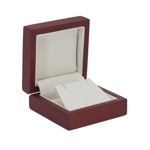 Domed Cherry Wood Small Earring Box
