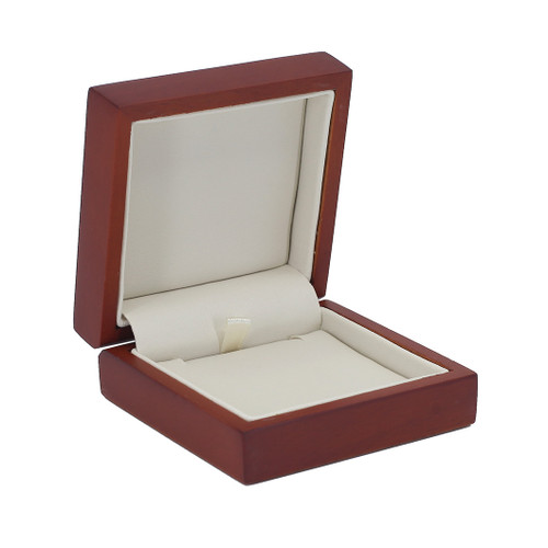 Domed Cherry Wood Small Pendant Box