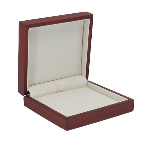Domed Cherry Wood Large Pendant Box