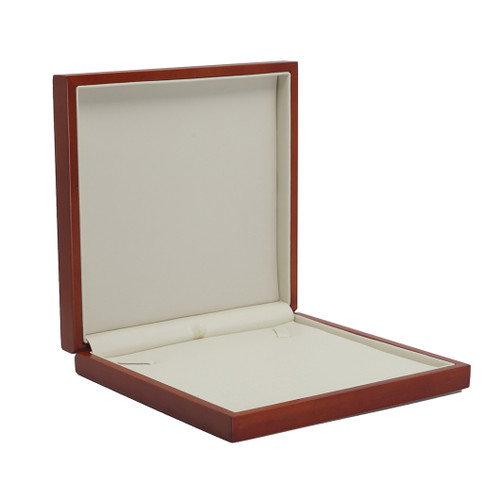 Domed Cherry Wood Large Necklace Box