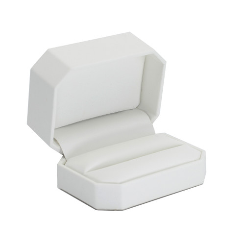 Octagonal Leatherette Double Ring Box