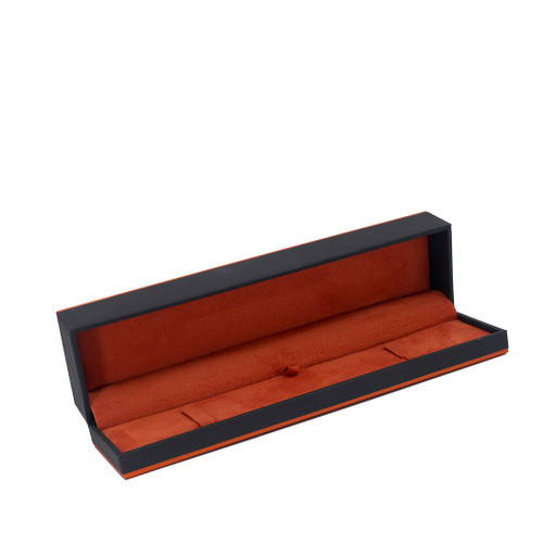 Leatherette Paper Bracelet Box w/ Accent Color Trim