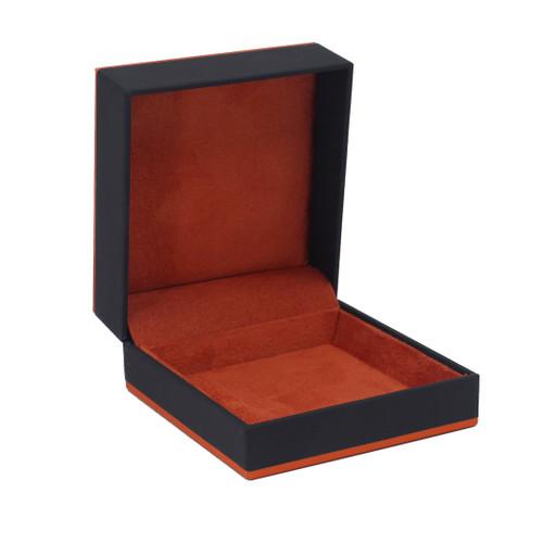 Leatherette Paper Utility Box w/ Accent Color Trim