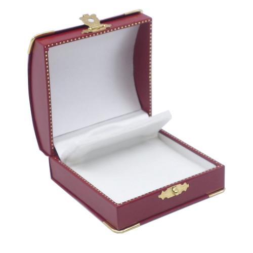 Clip Earring Box w/ Gilt Corners/Clasp Closure