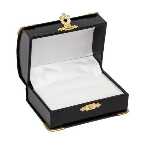Double Ring Box w/ Gilt Corners/ Clap Closure