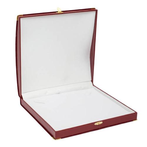 Large Necklace Box w/ Gilt Corners/Clasp Closure