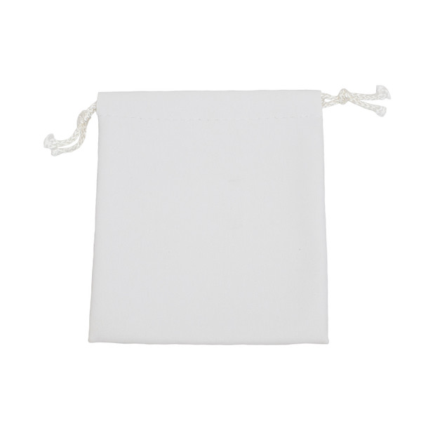 Leatherette Drawstring Pouch - Large