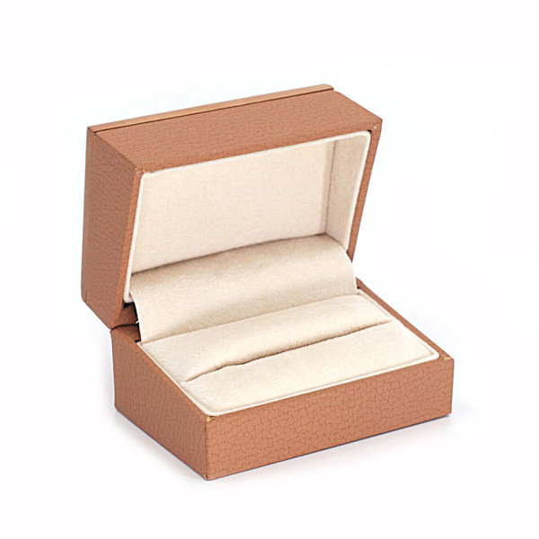 Wood Framed Double Ring Box