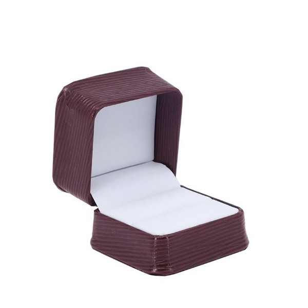 Textured Leatherette Single Ring Box