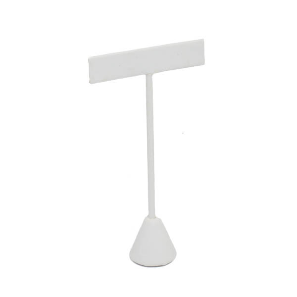 Leatherette T-Bar Earring Stand w/ Cone Base