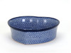 Heart Baking Dish (large) (Blue Doodle)