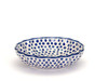 Frilled Dish (large) (Small Blue Dot)