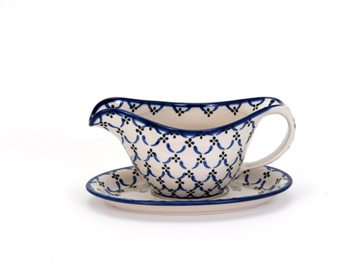 Gravy Boat with Saucer (Trellis)