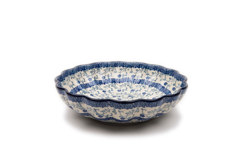 Frilled Dish (medium) (Forget Me Not)
