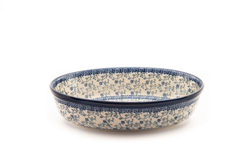 Oval Casserole Dish (small) (Forget Me Not)
