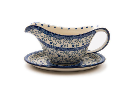 Gravy Boat with Saucer (Forget Me Not)