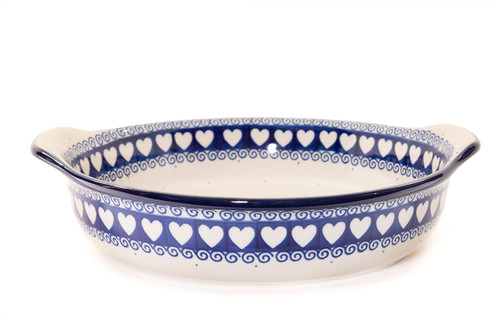 Round Oven Dish With Handles (Light Hearted)