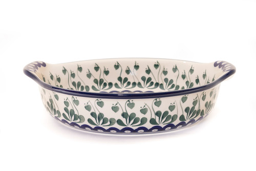 Round Oven Dish With Handles (Love Leaf)