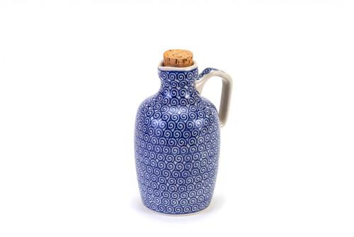 Oil Bottle (Blue Doodle)