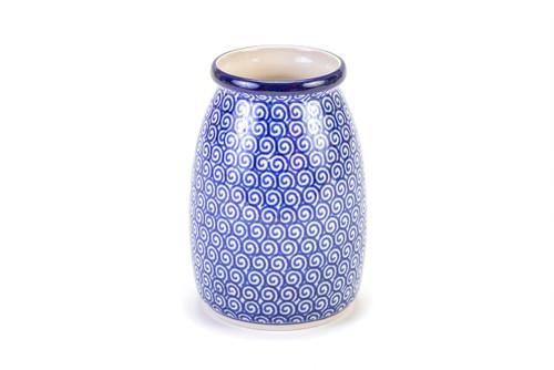 Milk Bottle Vase (Blue Doodle)
