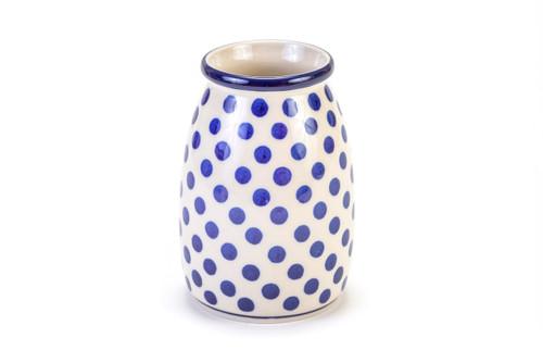 Milk Bottle Vase (Small Blue Dot)