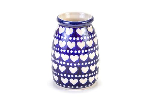 Milk Bottle Vase (Heart to Heart)