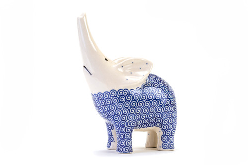 Elephant Trunk Up (Blue Doodle)