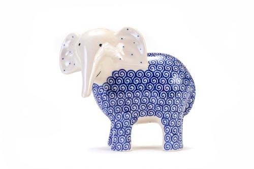 Elephant Trunk Down (Blue Doodle)
