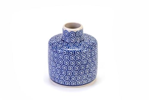 Aroma Vase (Blue Doodle)
