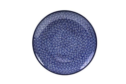 Breakfast Plate (20 cm) (Blue Doodle)
