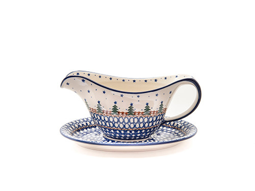 Gravy Boat with Saucer (Christmas)